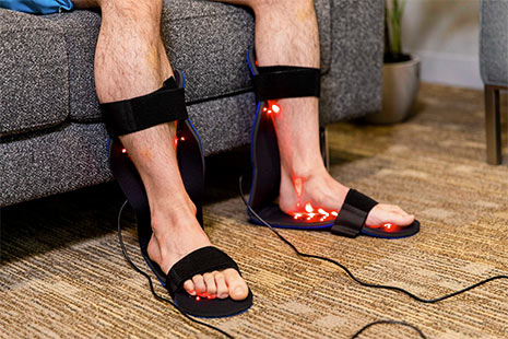 Light therapy footpad for foot and calf
